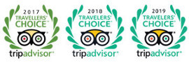 Trip Advisor Travellers' Choice Awards 2017-2019